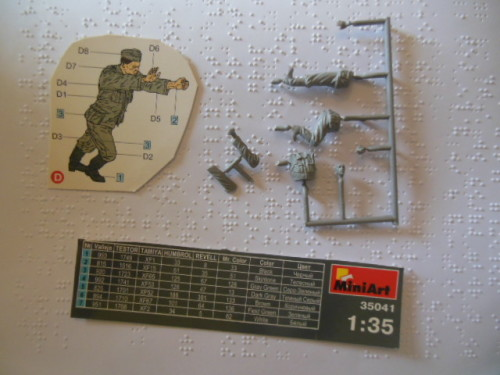 MINIART 1/35 SCALE GERMAN MILITARY FIGURE