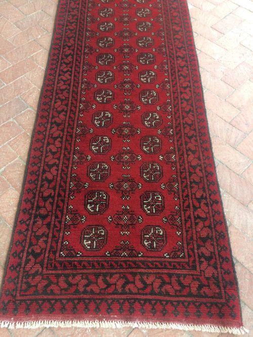 Rugs Amp Carpets Handmade Persian Red Afghan Runner Rug