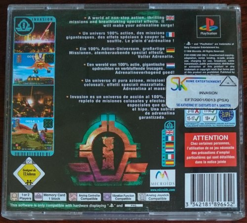 Games - Invasion - PS1 (Retro) was listed for R200 00 on 27