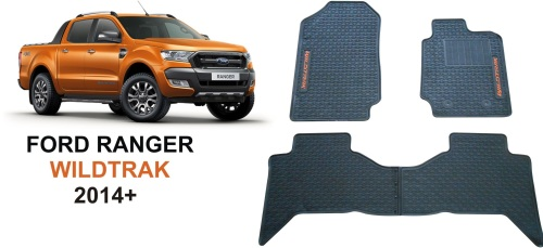 Ford Ranger Wildtrack 14+ Rubber Car Mats Was