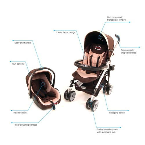 Travel Systems C3 Chelino Travel System With Stroller