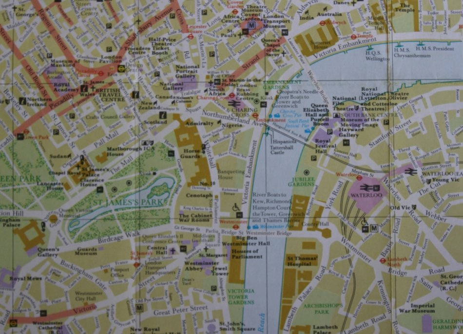 Road Map Central London.Maps Street Map Of Central London For Framing For Sale In Cape