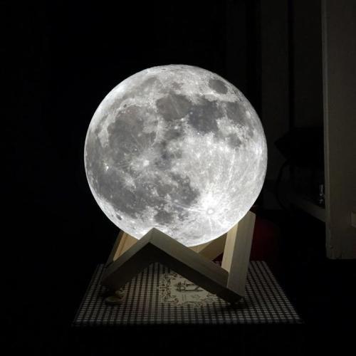 Desk Lamps Moon Lamp 13cm Rechargeable Color Adjustable