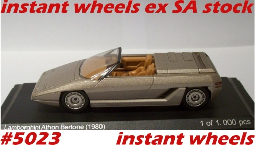 Lamborghini Athon Bertone Convertible 1980 New Boxed Free Delivery Ex Rsa Stock 5023 Instant Wheels