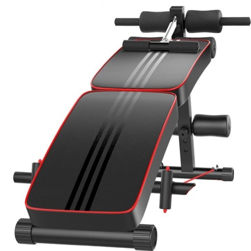 Buy Sit Up Bench Abs Training Ab Rollers Pull Spring: Foldable Sit Up AB Bench With Exercise Rope And