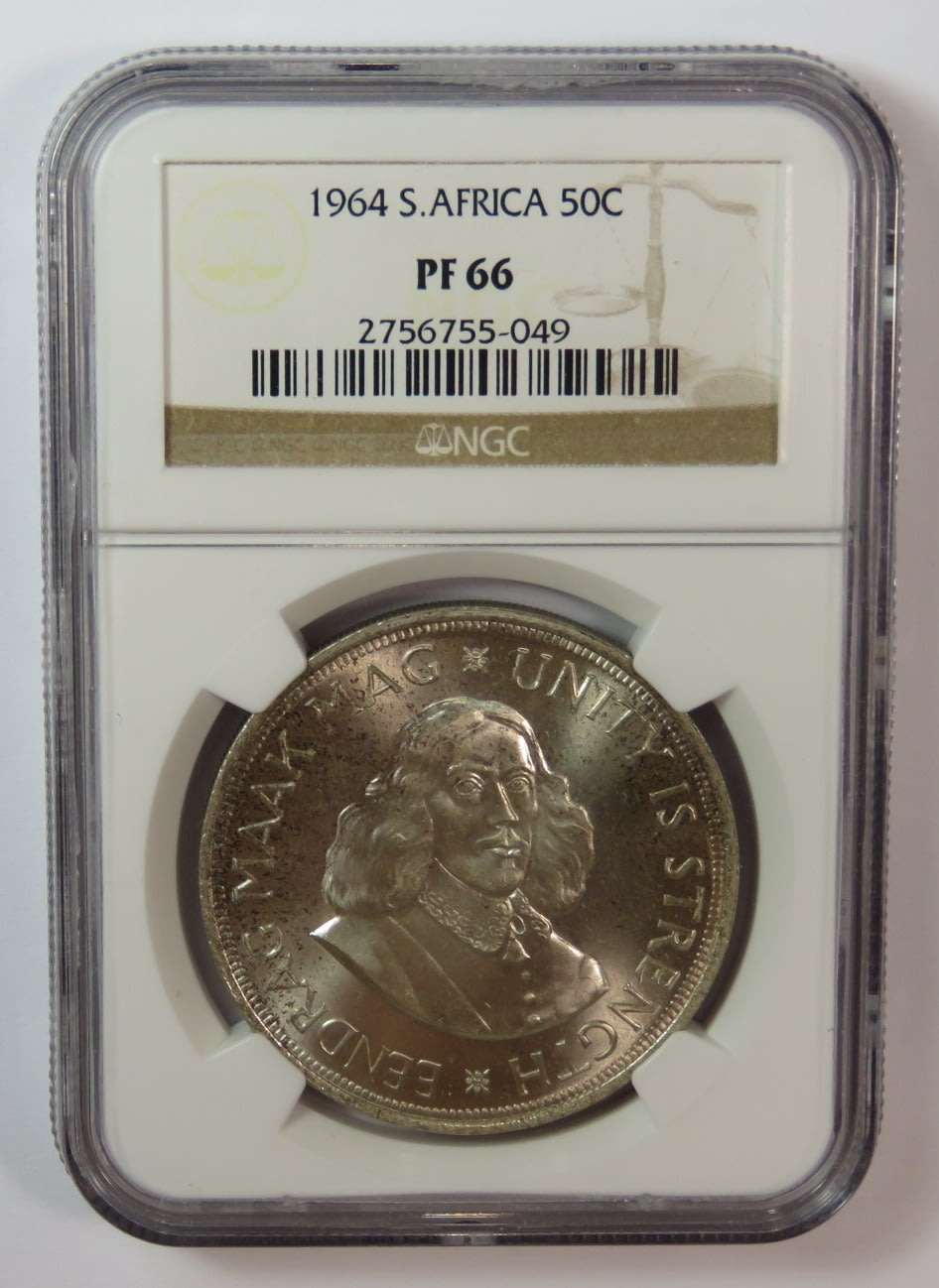 RSA graded 1964 NGC proof 66 silver 50c