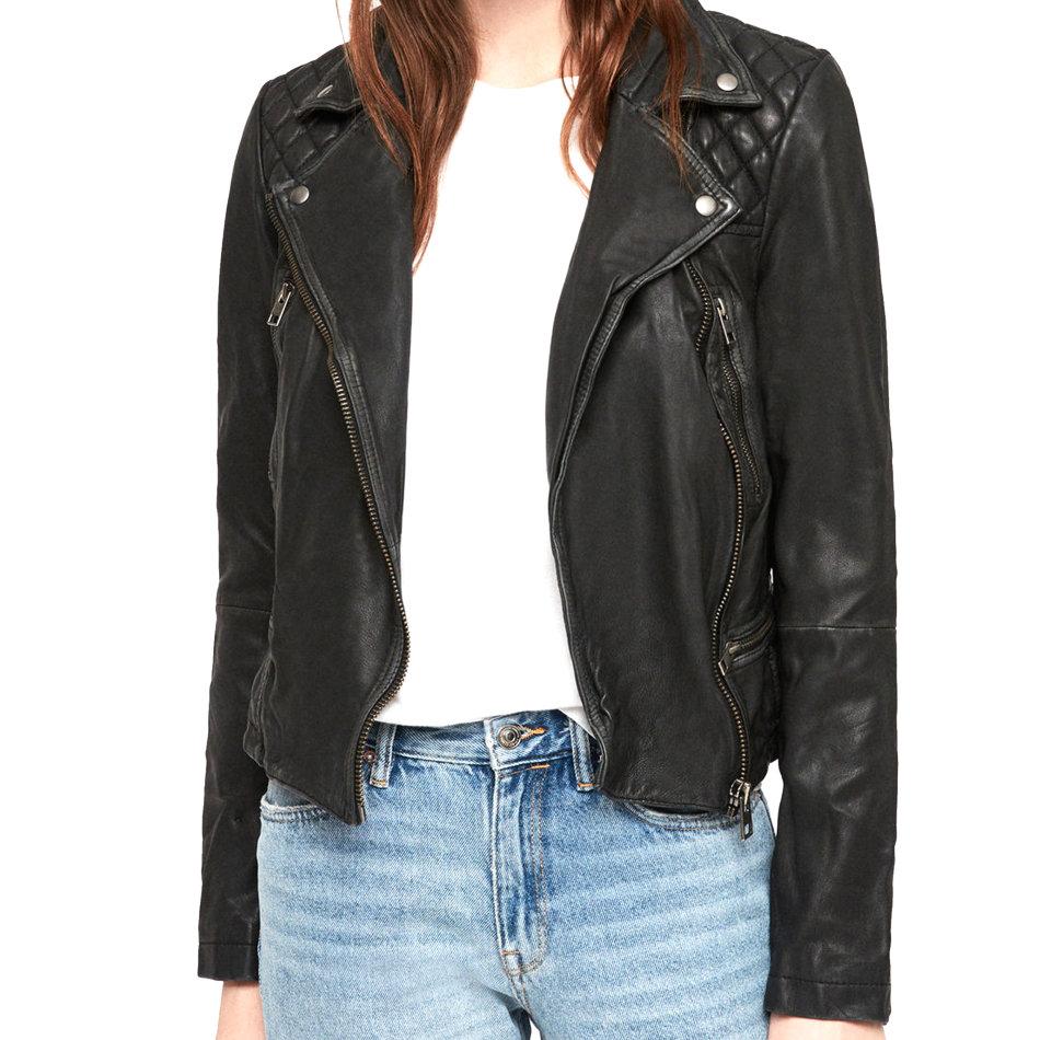 Jackets & Coats - Women Real Leather Jacket Black Genuine