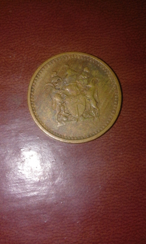 1974 1cent Coin From Rhodesia