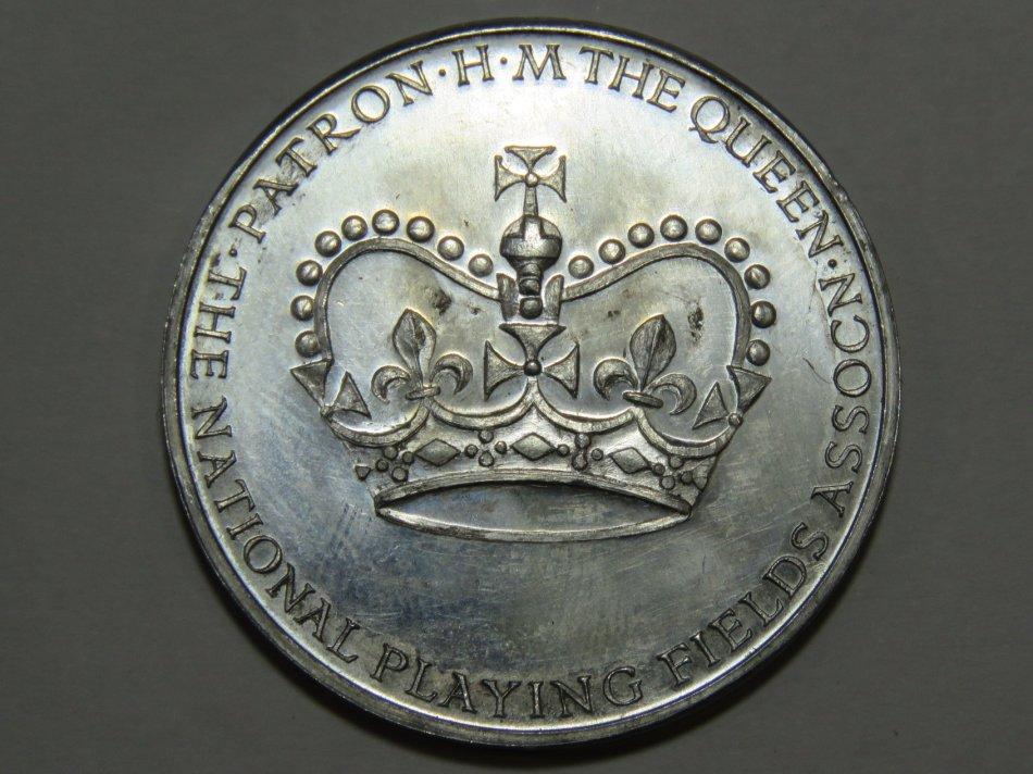 National Playing Fields Association QE2 coronation souvenirs medal