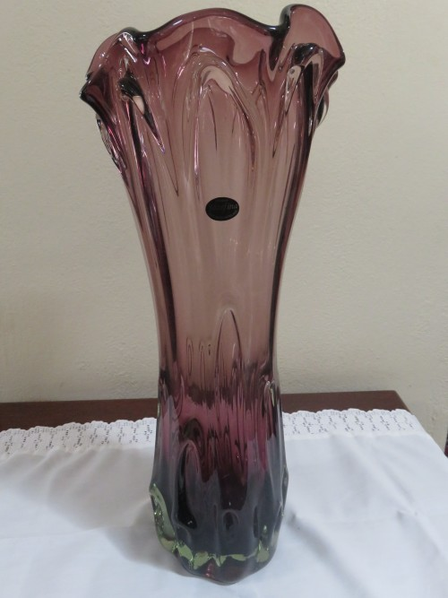 Vases Large Krosno Jozafina Purple Glass Vase Was Listed For R1 250 00 On 10 Feb At 08 01 By