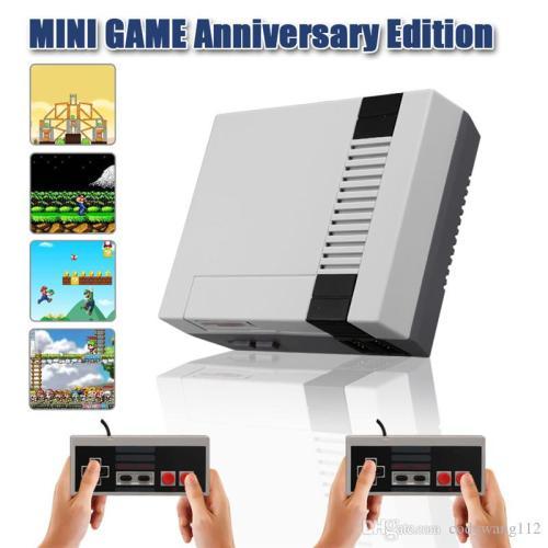 MINI RETRO TV GAME CONSOLE NES 8BIT CLASSIC 500 BUILT-IN GAMES+2 CONTROLLERS