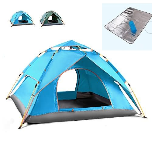 Tents Camping Tent 3 4 People Automatic Tent Rainproof