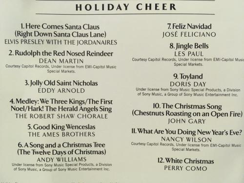 Time Life Treasury Of Christmas.Cd The Time Life Treasury Of Christmas Ii Holiday Cheer