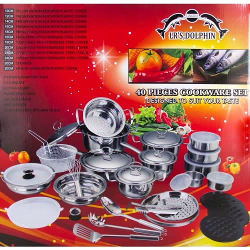 Cookware Sets Stainless Steel Cookware Set 40 Piece
