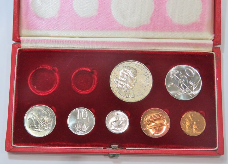 1966 RSA short proof set with silver R1 in long proof box