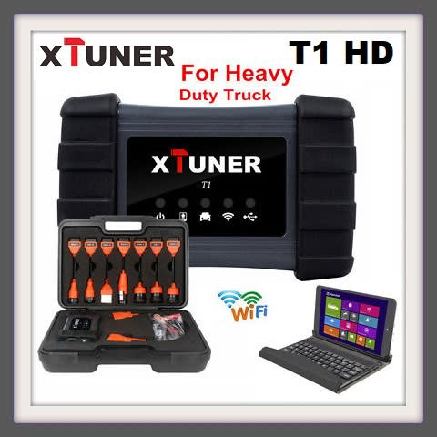 XTUNER T1 HD Heavy Duty Trucks Auto Diagnostic Tool With Truck Airbag ABS  DPF EGR Reset + Tablet