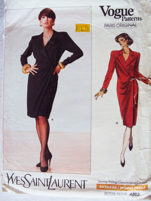 8055138e238 **Uncut factory folded 80's vintage sewing pattern Unused (env wear &  tear/taped)