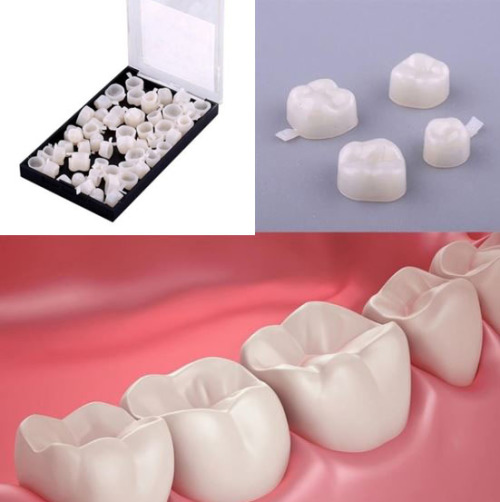 50Pcs Temporary Bottom Set Teeth Crown
