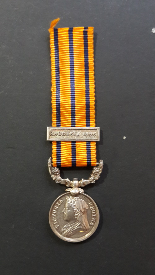 MINIATURE - British South Africa Companys Medal (Rhodesia 1896) plus 1896  clasp