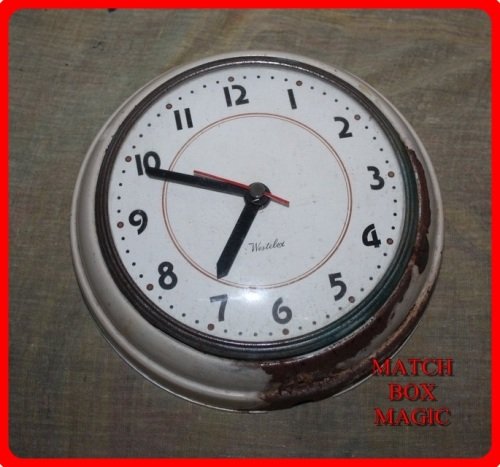 Other Scientific Instruments Vintage Westclox Metal Wall Clock