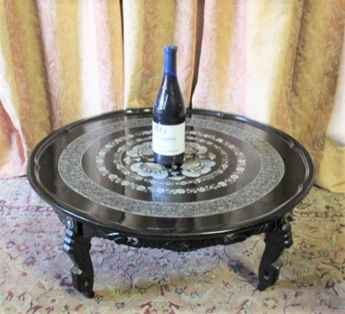Round Coffee Tables Johannesburg: A Stunning Round Chinese Black Laquer Coffee