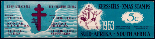 SOUTH AFRICA  1963, Christmas, complete booklet with strip of 5, mint  CV R  ?? 00 view scans
