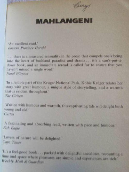 Mahlangeni : stories of a game ranger's family (Book, 1994 ...
