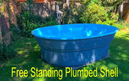 Swimming pools phoenix portable splash pool 2 9 x 2 2 - Free standing fibreglass swimming pools ...