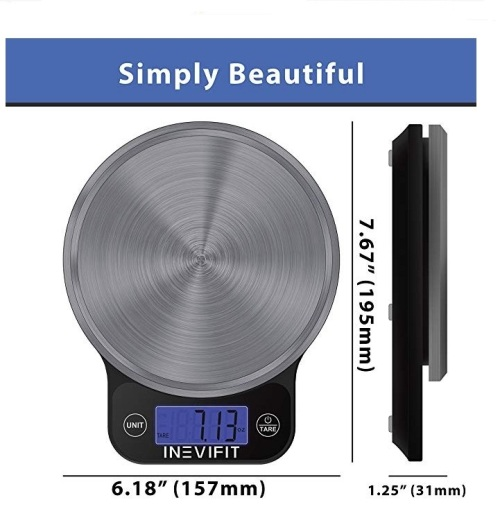 Measuring Tools - Inevifit Digital Kitchen Scale, Multi-function