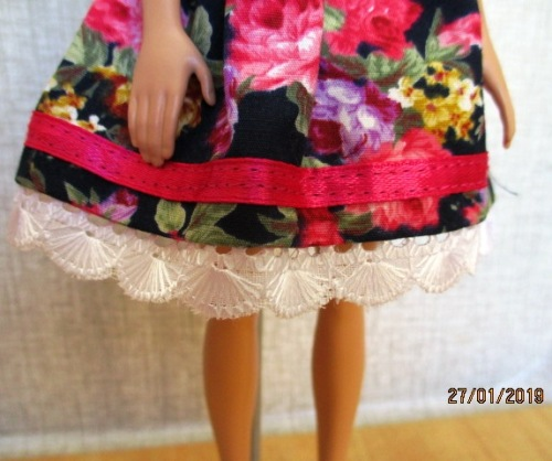b4844586f3153 Clothing - Barbie doll's dress and pantie set - black rose print was ...