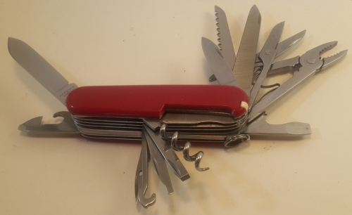 Knives Victorinox Handyman Swiss Army Knife With Red
