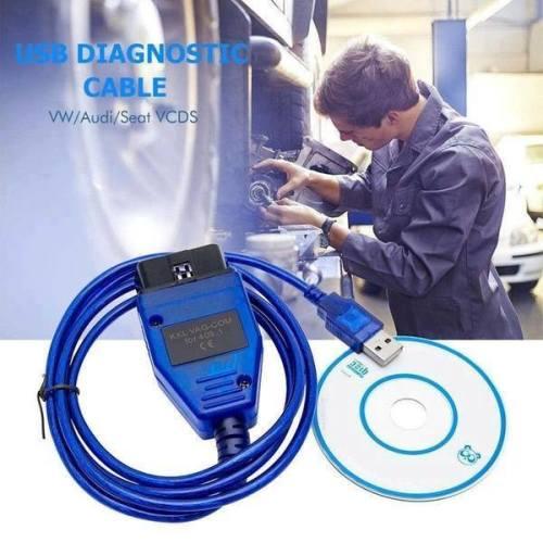 USB Cable KKL VAG-COM 409 1 OBD2 OBD Diagnostic Scanner VCDS VW/Audi/Seat  A++ TU8