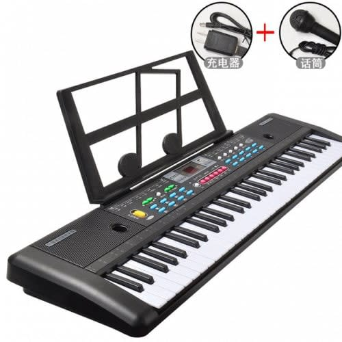 music 76cm keyboard 61 key microphone with piano spectrum shelf black piano microphone usb. Black Bedroom Furniture Sets. Home Design Ideas