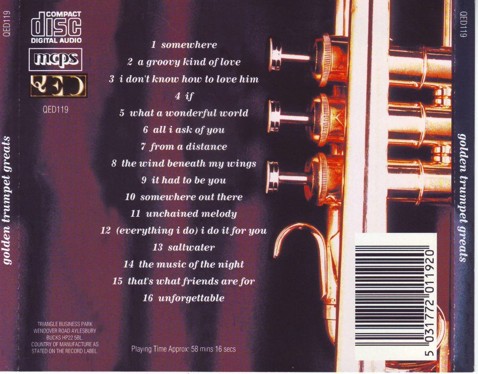 Easy Listening - GOLDEN TRUMPET GREATS (CD) QED119 (FREE