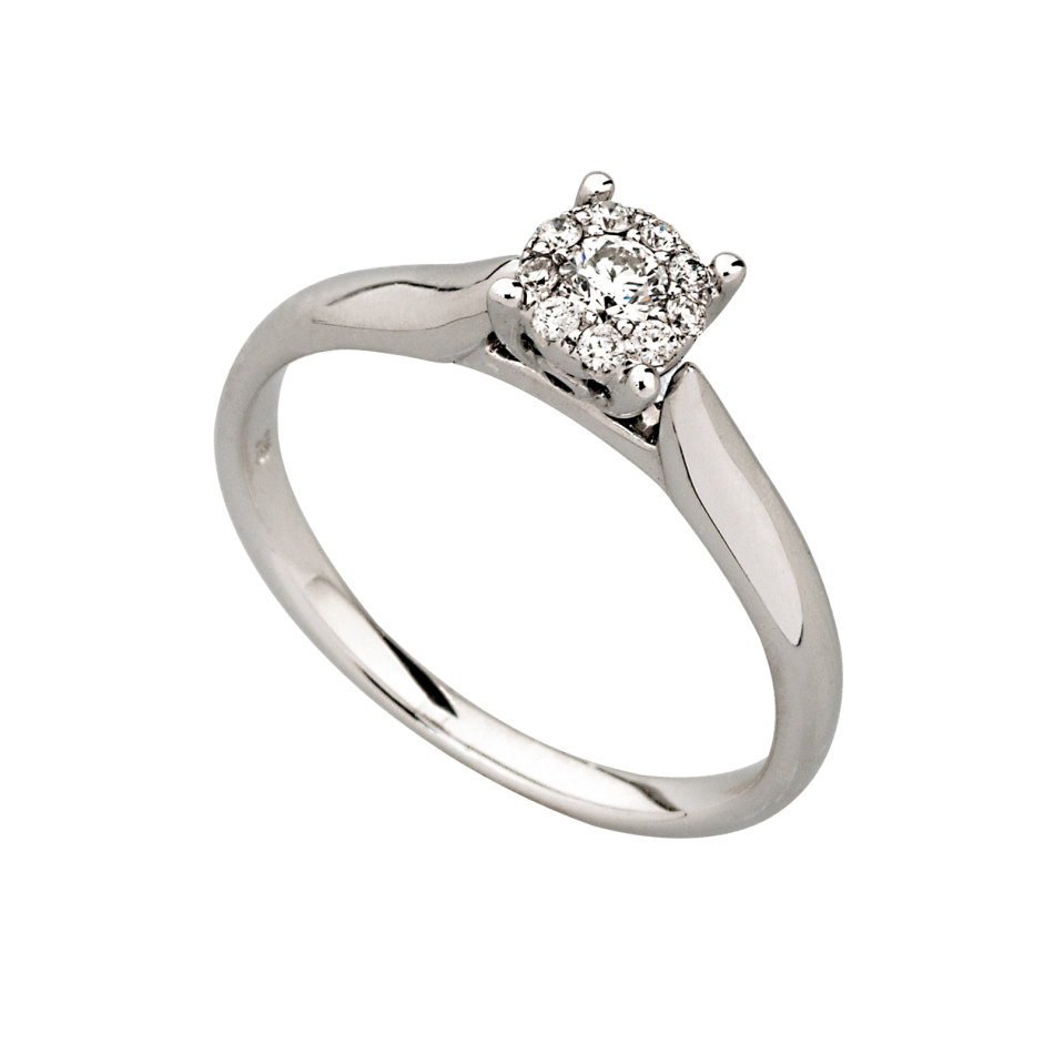 Engagement Rings - Brilliance Engagement Ring .18Ct was