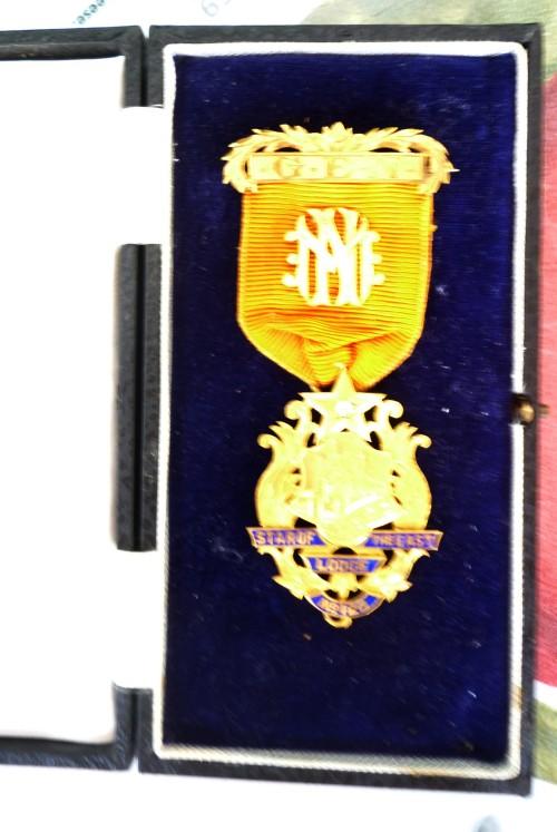Freemasons Lodge Medal (with ribbon)