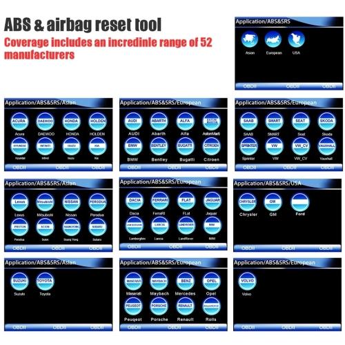 FOXWELL NT630 ELITE Engine,ABS,Airbag,SRS,SAS, Reset Scan Tool Anti Lock  Brake System OBD2 Scanner