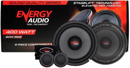 Energy Audio SQ6C 6 5 400W 6-Piece Component Speakers | 80w RMS