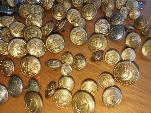 Other Clothing & Equipment - Military and Navy Buttons