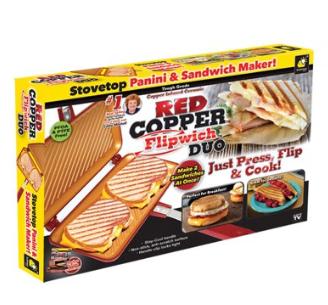 Pans Sandwich Maker Red Copper Flipwich Duo Non Stick