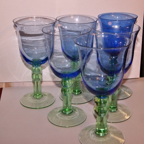 Coloured Wine Goblets Home Decorating