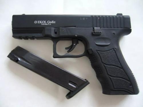 GLOCK EKOL GEDIZ SIGNAL/STARTER GUN, BLACK 9mm P A K SELF DEFENCE  BLANK/PEPPER FIRING GUN