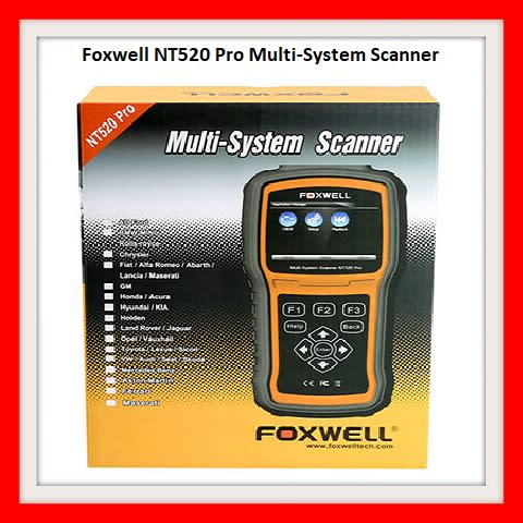 Foxwell NT520 Pro Multi-System Scanner with Free Car Brand and OBD Software