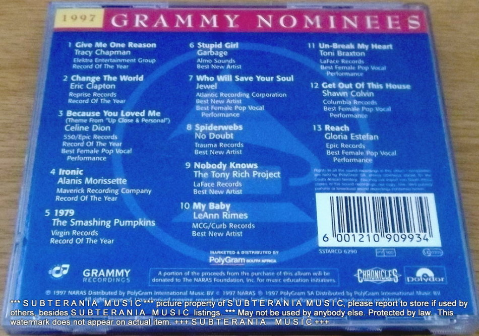 Pop - 1997 GRAMMY NOMINEES was listed for R20 00 on 5 Jul at