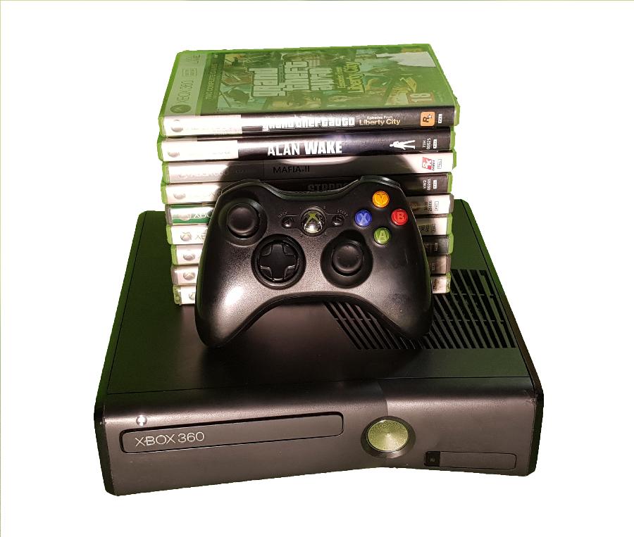 Consoles - Microsoft Xbox 360 S 4GB Console + 9 games + 1 ...