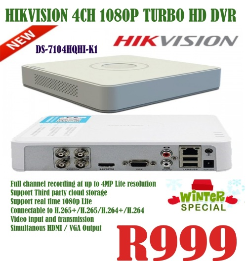 Hikvision 4 Channel 1080p Turbo HD Dvr