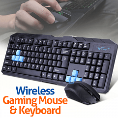 2 4GHz Wireless Gaming Keyboard And Mouse Set Combo For PC