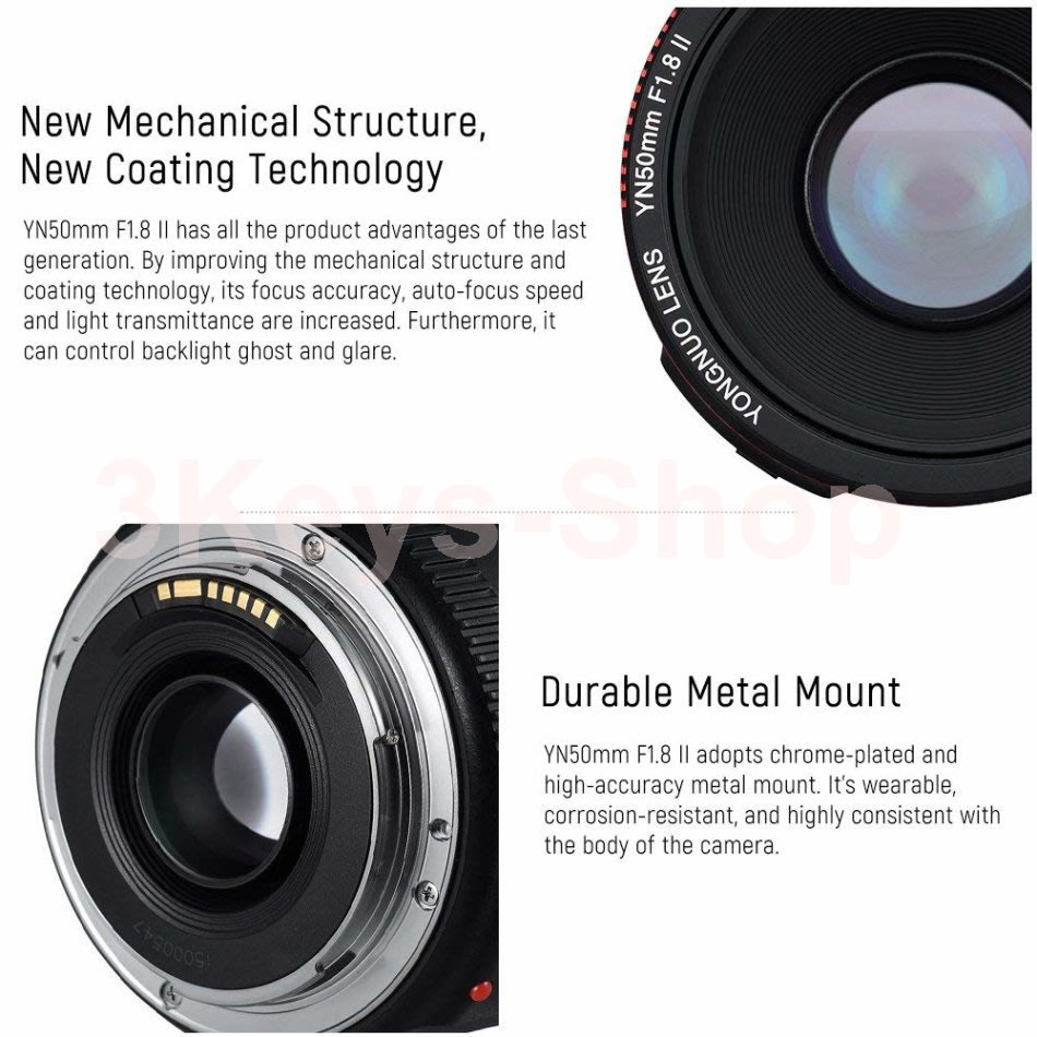 Digital SLR - New YONGNUO 50mm F1 8 II Second generation for Canon