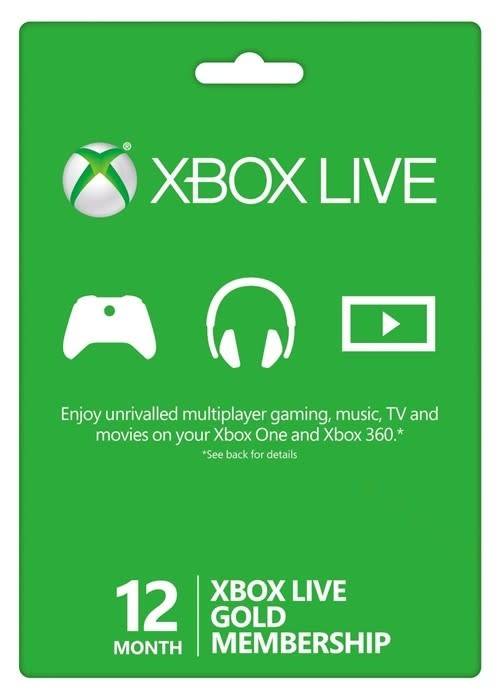 Xbox Live 12 Month Gold Membership (Digital Code / Instant Delivery)