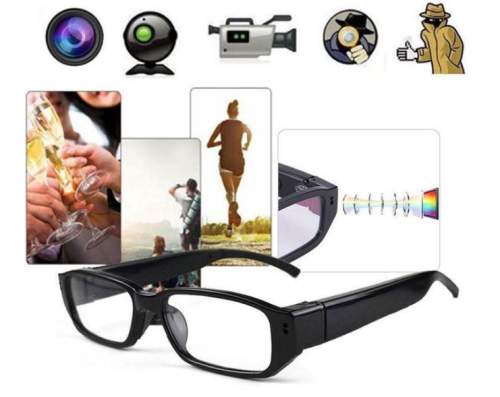Hot Sale Spy Video Hidden Camera Glasses 720/1080P